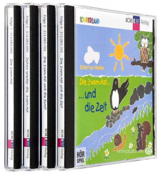 Die 3 vom Ast ... - CD-Folge 1-4 im Paket