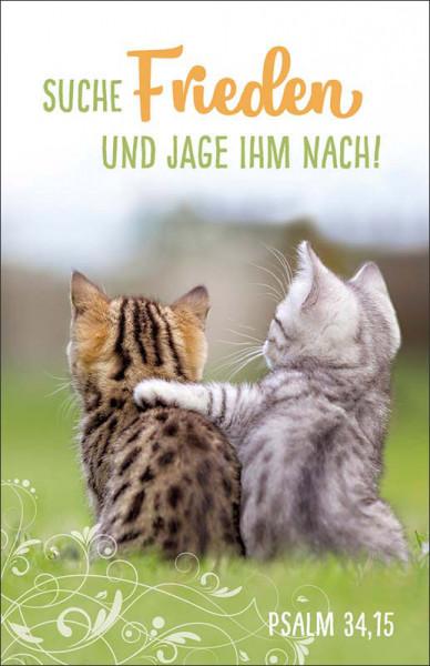 "Postkarte - Jahreslosung 2019 - ""Motiv Kätzchen"""