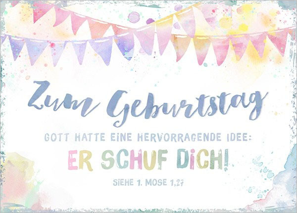 "Postkarte - Big Blessing ""Zum Geburtstag - Idee..."""