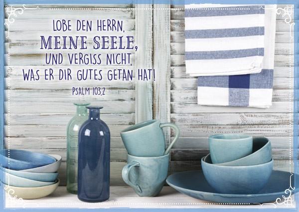 "Postkarte ""Lobe den Herrn"""