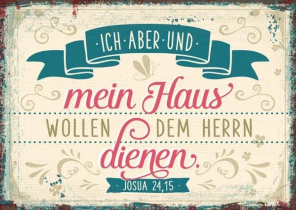"Postkarte ""Dem Herrn dienen (vintage)"""