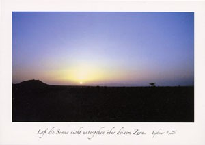"""Postkarte """"Laß die Sonne nicht untergehen ..."""""""