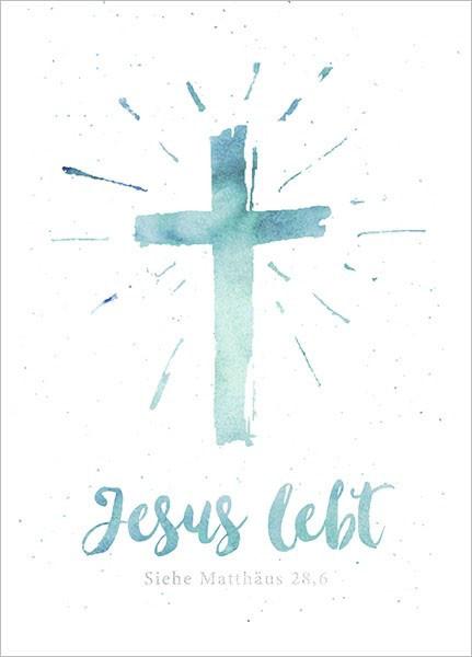 "Postkarte - Big Blessing ""Jesus lebt (Kreuz)"""