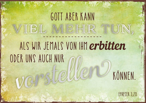 """Postkarte """"Gott aber kann"""""""
