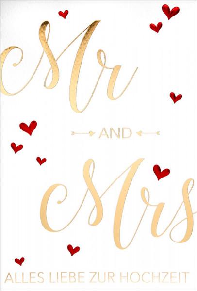 """Faltkarte """"Mr and Mrs"""""""