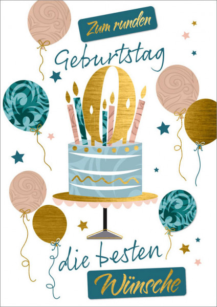 """Faltkarte """"zum runden Geburtstag"""""""