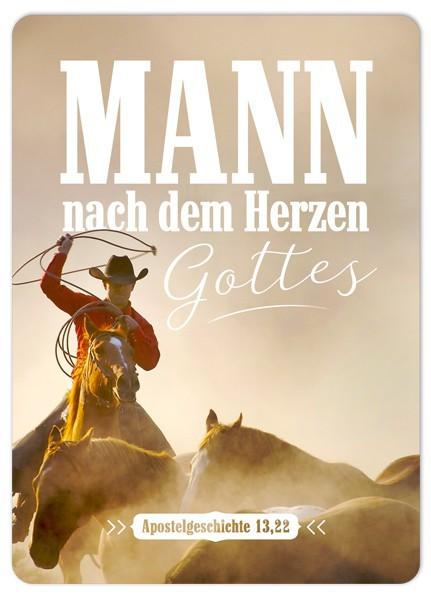 """Postkarte """"Mann nach dem Herzen Gottes"""""""