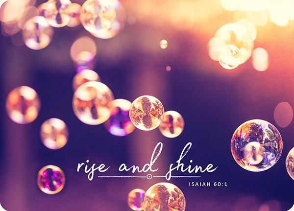 "Postkarte - Big Blessing ""Rise and shine"""