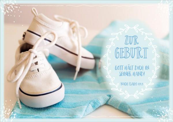"Faltkarte ""Weiße Sneakers"" - Geburt"