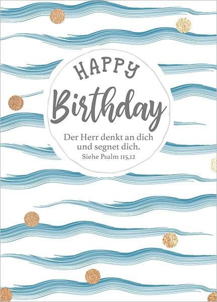 """Postkarte - Big Blessing """"Happy Birthday - Der Herr..."""""""