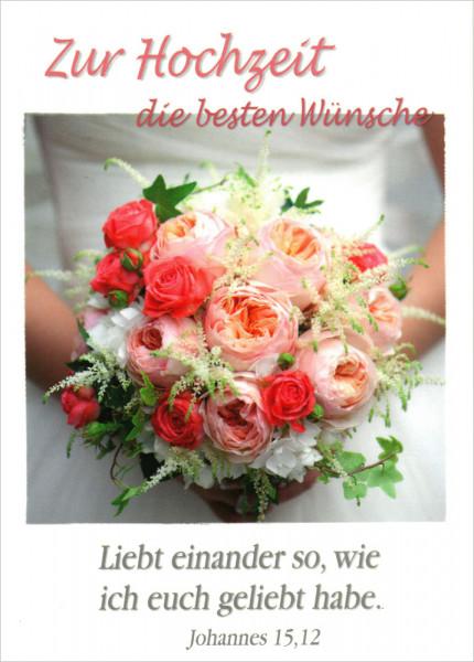 """Faltkarte """"Zur Hochzeit die besten Wünsche"""""""