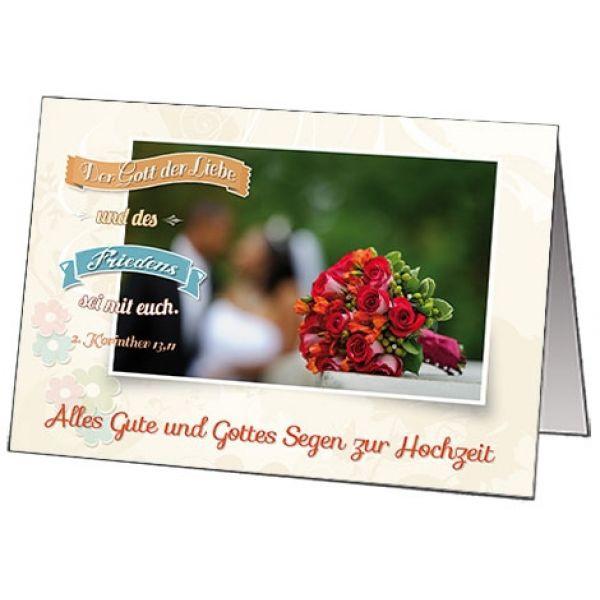 """Faltkarte """"Alles Gute und Gottes Segen zur Hochzeit"""""""