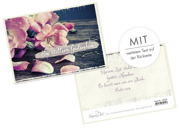 """Faltkarte """"In stillem Gedenken (Blumen)"""""""