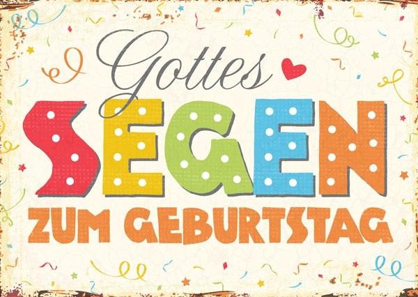 "Postkarte ""Gottes Segen zum Geburtstag"""