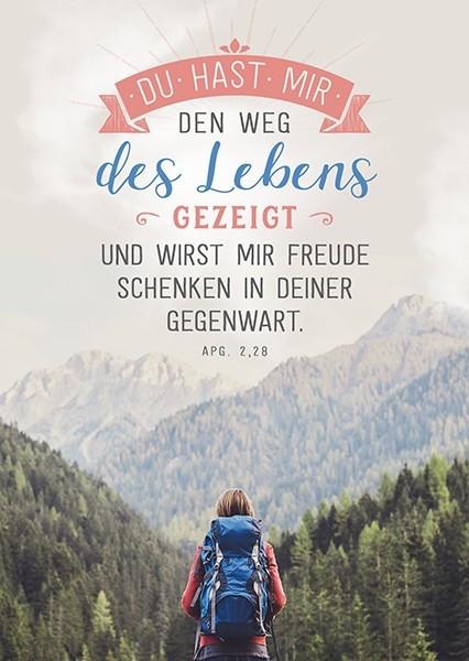 """Postkarte """"Weg des Lebens"""""""