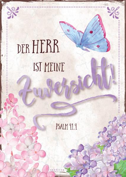 """Postkarte """"Schmetterling - Zuversicht"""""""