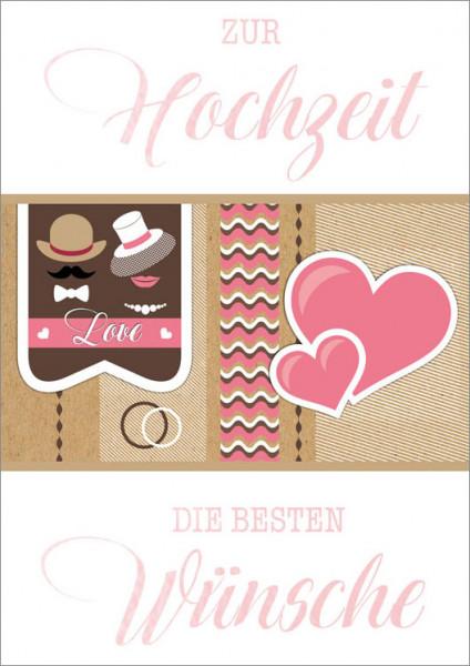 """Faltkarte """"Love Herzen"""""""