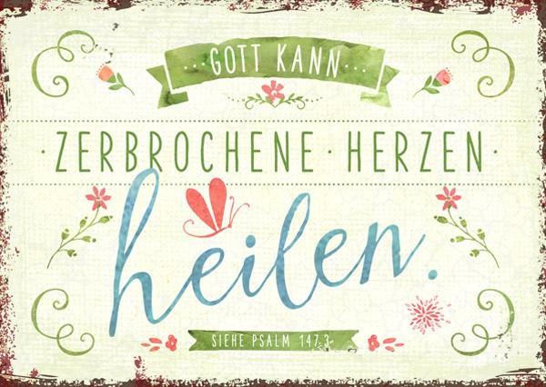 """Postkarte """"Herzen heilen"""""""