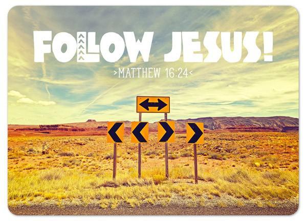"Postkarte ""Follow Jesus"""
