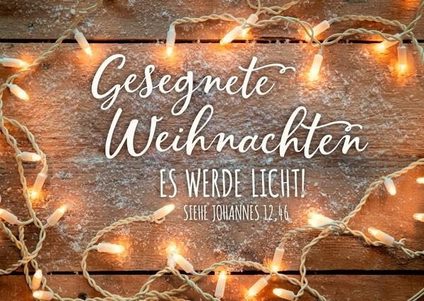 Postkarte - Es werde Licht