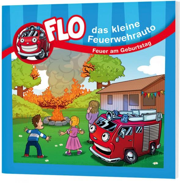 """Flo, das kleine Feuerwehrauto - Mini-Buch """"Feuer am Geburtstag"""""""