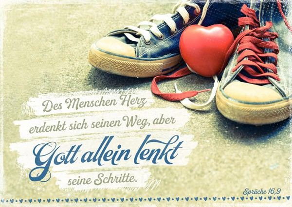 "Postkarte ""Gott allein lenkt"""