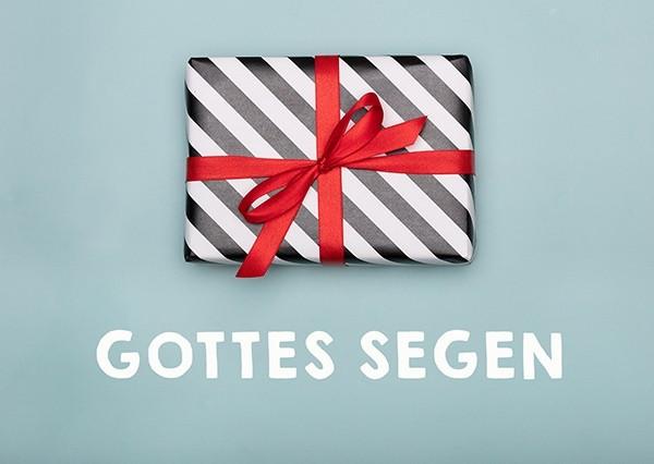 """Postkarte """"Gottes Segen (Geschenk)"""""""