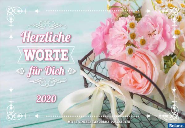 Herzliche Worte für Dich 2020 - Postkartenkalender