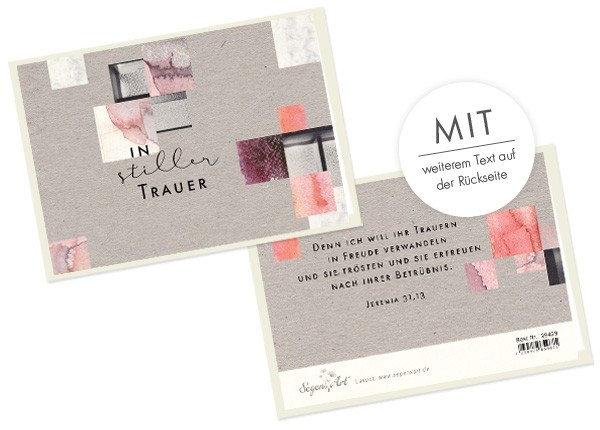 """Doppelkarte Collage """"In stiller Trauer"""""""