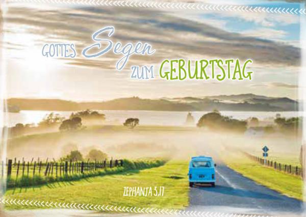 "Faltkarte ""VW Bus"" - Geburtstag"
