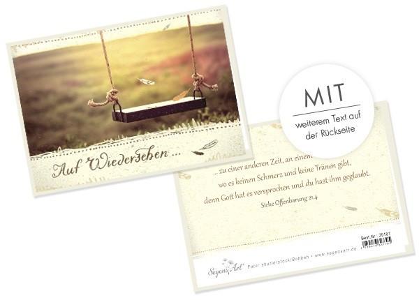 """Doppelkarte Collage """"Auf Wiedersehen"""""""