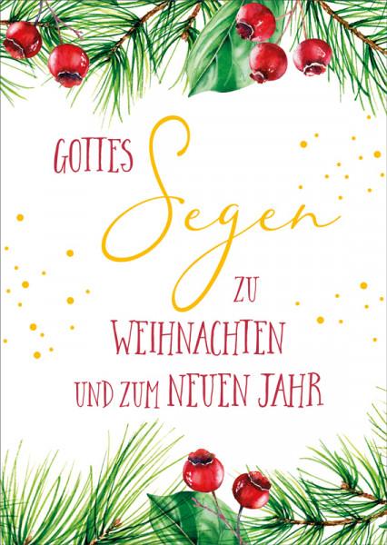 """Postkarte """"Rote Beeren"""""""
