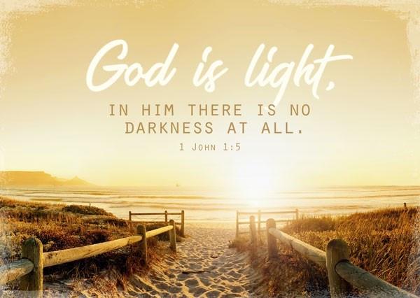 "Postkarte ""God is light"""