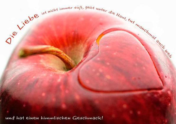 Postkarte ''Apfelherz''