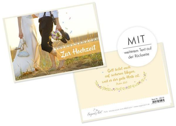 """Faltkarte """"Zur Hochzeit - Gott leitet"""""""