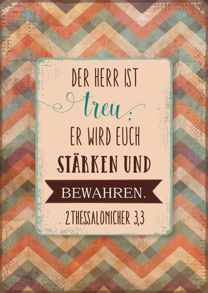 "Postkarte ""Der Herr ist treu"""