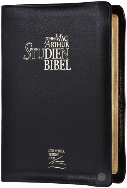 MacArthur Studienbibel - Schutzklappen / Rindleder / Goldschnitt