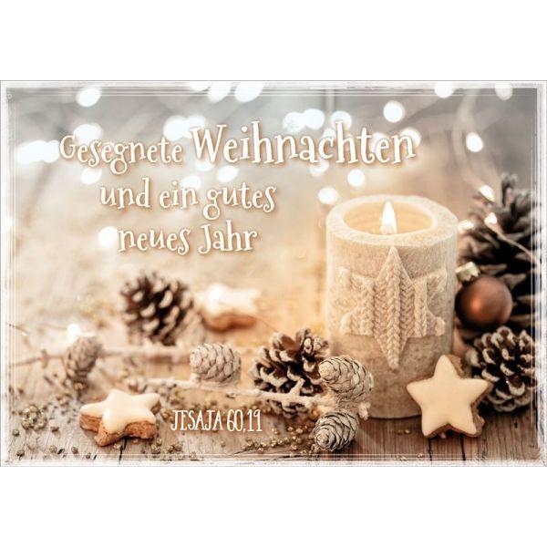 """Faltkarte """"Weihnachtskerze"""""""