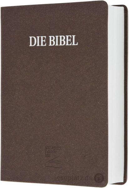 Schlachter 2000 Großdruckausgabe - Bonded-Leather braun