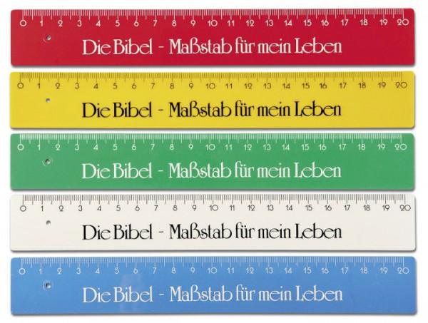 Lineal ''Die Bibel - Maßstab für mein Leben''