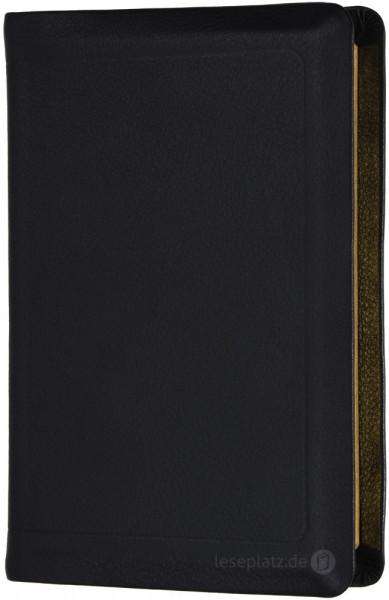 Elberfelder 2003 - Taschenausgabe / Kalbsleder Goldschnitt mit Schutzklappen