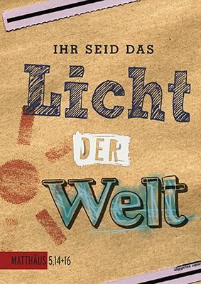 """Postkarte """"Ihr seid das Licht der Welt"""""""