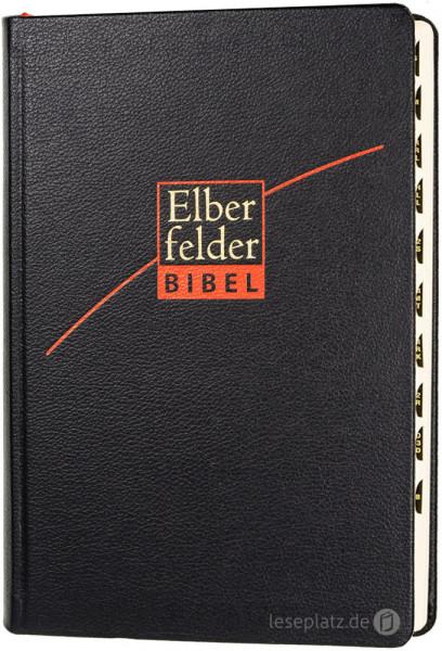 Elberfelder Bibel 2006 mit Schreibrand und Registerstanzung / Leder schwarz