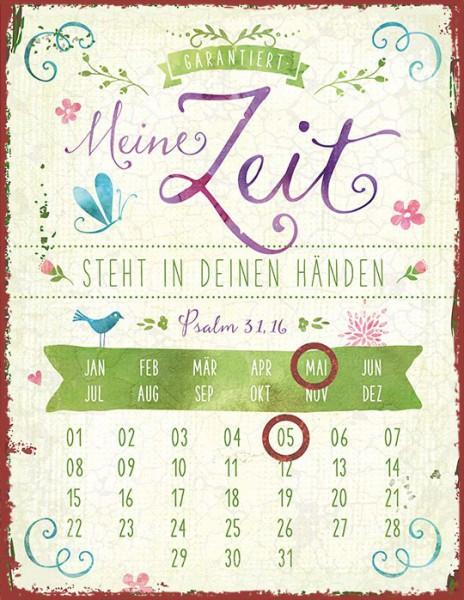 """Magnetkalender """"Meine Zeit steht in deinen Händen"""""""