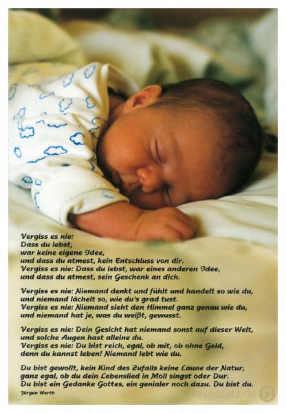 """Faltkarte """"Baby schläft"""""""