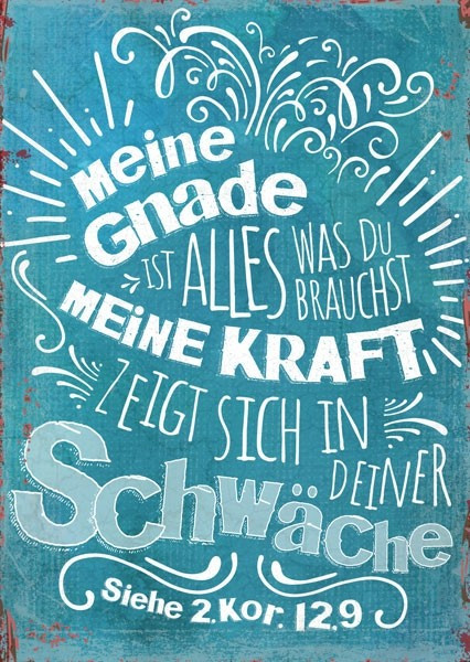 "Postkarte ""Meine Gnade"""
