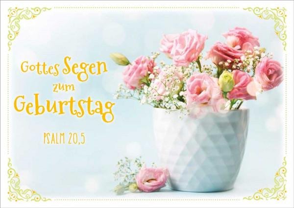 """Postkarte """"Rosen mit Schleierkraut"""""""