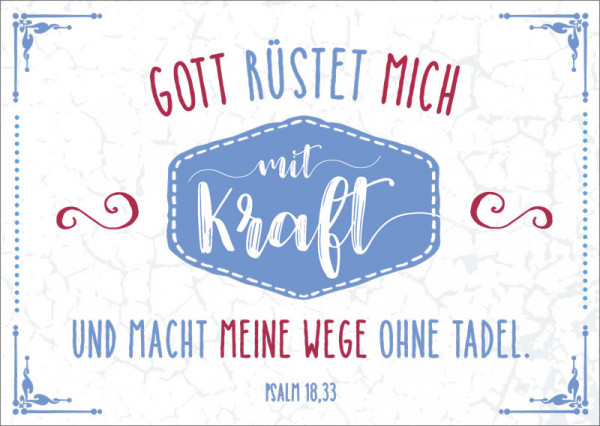 "Postkarte ""Mit Kraft"""