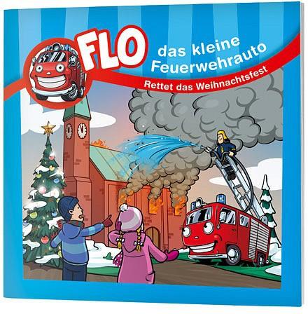 """Flo, das kleine Feuerwehrauto - Mini-Buch """"Rettet das Weihnachtsfest"""""""