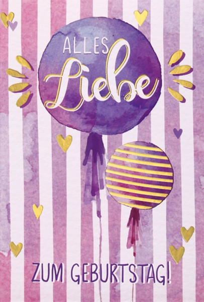 "Faltkarte ""Liebe"" - Geburtstag"